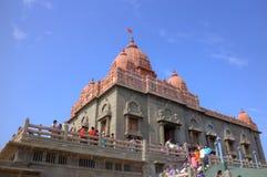 斯瓦米・维韦卡南达纪念品。科摩林角,印度 库存照片
