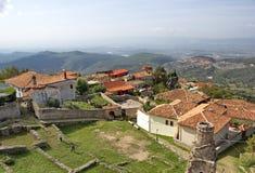 从斯甘德伯城堡,克鲁亚,阿尔巴尼亚的看法 库存照片