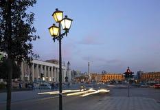 斯甘德伯广场在地拉纳 通风 库存照片