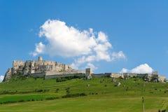 斯皮城堡在东斯洛伐克 免版税库存图片