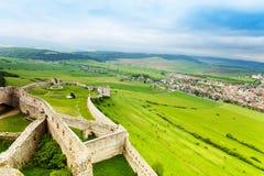 斯皮城堡的低部 图库摄影