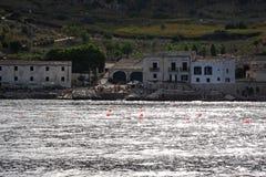 斯科佩洛看法从小船的 免版税库存图片