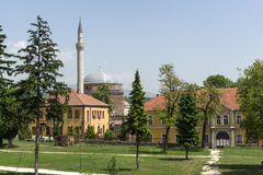 斯科普里,马其顿共和国- 2017年5月13日:穆斯塔法巴夏` s清真寺在斯科普里 免版税图库摄影