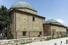 斯科普里,马其顿共和国- 2017年5月13日:马其顿- Daut巴夏Hamam,斯科普里国家肖像馆  库存照片