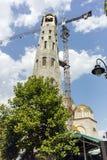 斯科普里,马其顿共和国- 2017年5月13日:St康斯坦丁和埃琳娜教会在市斯科普里 免版税库存照片