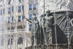 斯科普里,马其顿- 2016年4月14日:亚历山大大帝雕象  库存照片