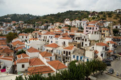 斯科派洛斯岛海岛 免版税库存照片