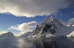 斯科特山在南极半岛的中部 库存照片
