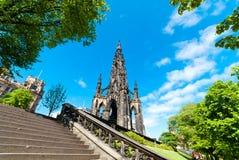 斯科特纪念碑在爱丁堡 库存图片