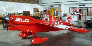 斯科特Holmess没有` s的飞机 9个`违法的`航空器塑造在空气种族1世界杯泰国的Cassutt III-M 2017年在U-Tapao海军空军基地 库存图片