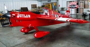 斯科特Holmess没有` s的飞机 9个`违法的`航空器塑造在空气种族1世界杯泰国的Cassutt III-M 2017年在U-Tapao海军空军基地 免版税库存图片