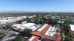 斯科茨代尔、亚利桑那、美国-在明亮的跨线桥和好日子02 股票录像
