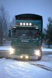 斯科讷P420废弃物收集卡车 免版税库存照片