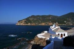斯科派洛斯岛教会  免版税库存图片