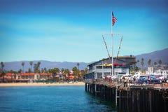 斯第恩斯码头在圣塔巴巴拉,加利福尼亚-美国 免版税库存图片