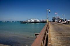 斯第恩斯码头在圣塔巴巴拉 图库摄影
