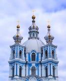 斯莫尔尼宫大教堂圣彼德堡 免版税库存图片