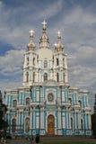 斯莫尔尼宫女修道院大教堂ST的 彼得斯堡俄国 免版税库存照片
