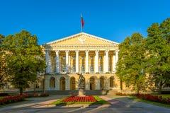 斯莫尔尼宫 圣彼德堡状态议院  免版税库存图片