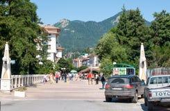 斯莫梁镇的走的部分在保加利亚 库存照片