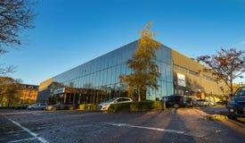 斯蒂夫尼奇, ENGLAND-NOVEMEBR 16日2016年,作为有限公司Aeroflex的Cobham无线贸易 库存图片