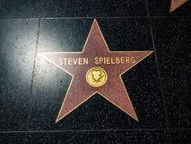 斯蒂芬・斯皮尔伯格` s星,好莱坞星光大道- 2017年8月11日, -好莱坞大道,洛杉矶,加利福尼亚,加州 免版税库存图片