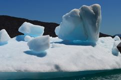 斯蒂芬冰川在园地de Hielo苏尔南部的巴塔哥尼亚人的冰原,智利巴塔哥尼亚 免版税库存照片