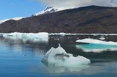 斯蒂芬冰川在园地de Hielo苏尔南部的巴塔哥尼亚人的冰原,智利巴塔哥尼亚 库存照片