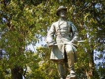 斯蒂芬莳萝李纪念碑雕象南北战争 免版税库存图片
