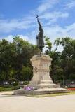 斯蒂芬cel母马的纪念碑在基希纳乌,摩尔多瓦 免版税库存照片