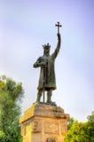 斯蒂芬cel母马纪念碑在基希纳乌 免版税库存图片