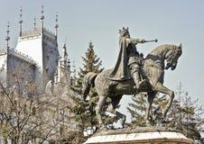 斯蒂芬cel母马雕象在摩尔达维亚 免版税库存照片