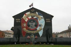 斯蒂芬McKeag,贝尔法斯特纪念壁画。 库存照片