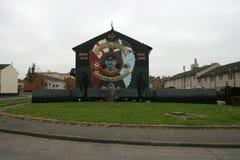 斯蒂芬McKeag,贝尔法斯特纪念壁画。 图库摄影