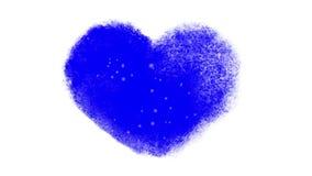 斯诺伊与Chromakey的结冰的心脏窗口 影视素材