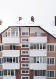 斯诺伊公寓房在冬天 图库摄影