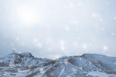 斯诺伊冬天横向 免版税图库摄影