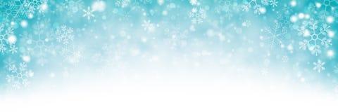 斯诺伊冬天背景横幅 库存图片