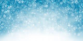 斯诺伊冬天背景横幅 向量例证