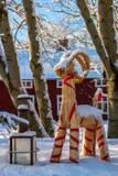 斯诺伊圣诞节山羊 免版税图库摄影