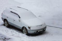 斯诺伊天气,冷的冬天 库存图片