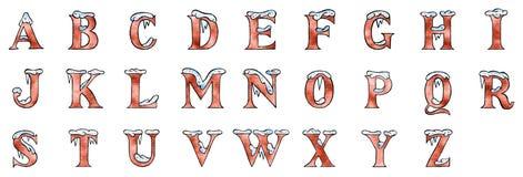 斯诺伊字体-大写字母 免版税图库摄影