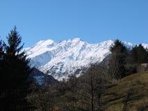 斯诺伊山在Passiria 免版税图库摄影