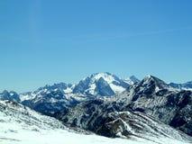 斯诺伊山横向 库存照片