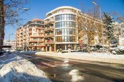 斯诺伊波摩莱,保加利亚,冬天 免版税库存照片