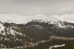 斯诺伊科罗拉多风景 免版税图库摄影