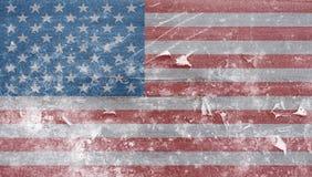 斯诺伊美国旗子 免版税库存图片