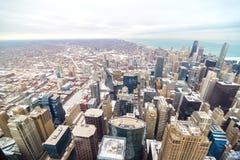 斯诺伊街市芝加哥 图库摄影