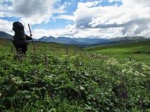 斯诺伊远足您的山口山可以单独去去与它总是一个了不起的假期的人 它总是 很多好em 免版税库存照片