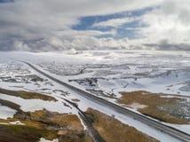 斯诺伊风景在冰岛 库存照片